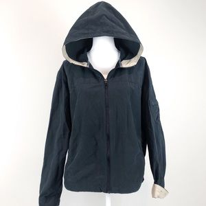 Columbia Black Tan Hooded Full Zip Front Jacket 1X